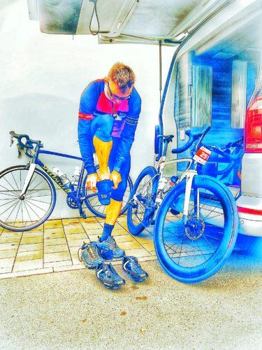 Gerd bei Umziehen Heideradcup 2020
