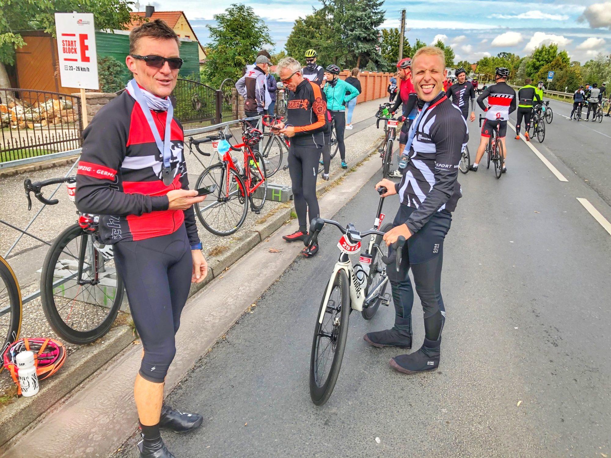 Vorm Start zum Heideradcup 2020