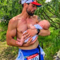 Danny mit Baby leipzig-triathlon