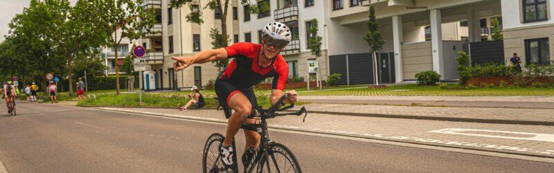 Karsten radfahren Leipzig-Triathlon 2021