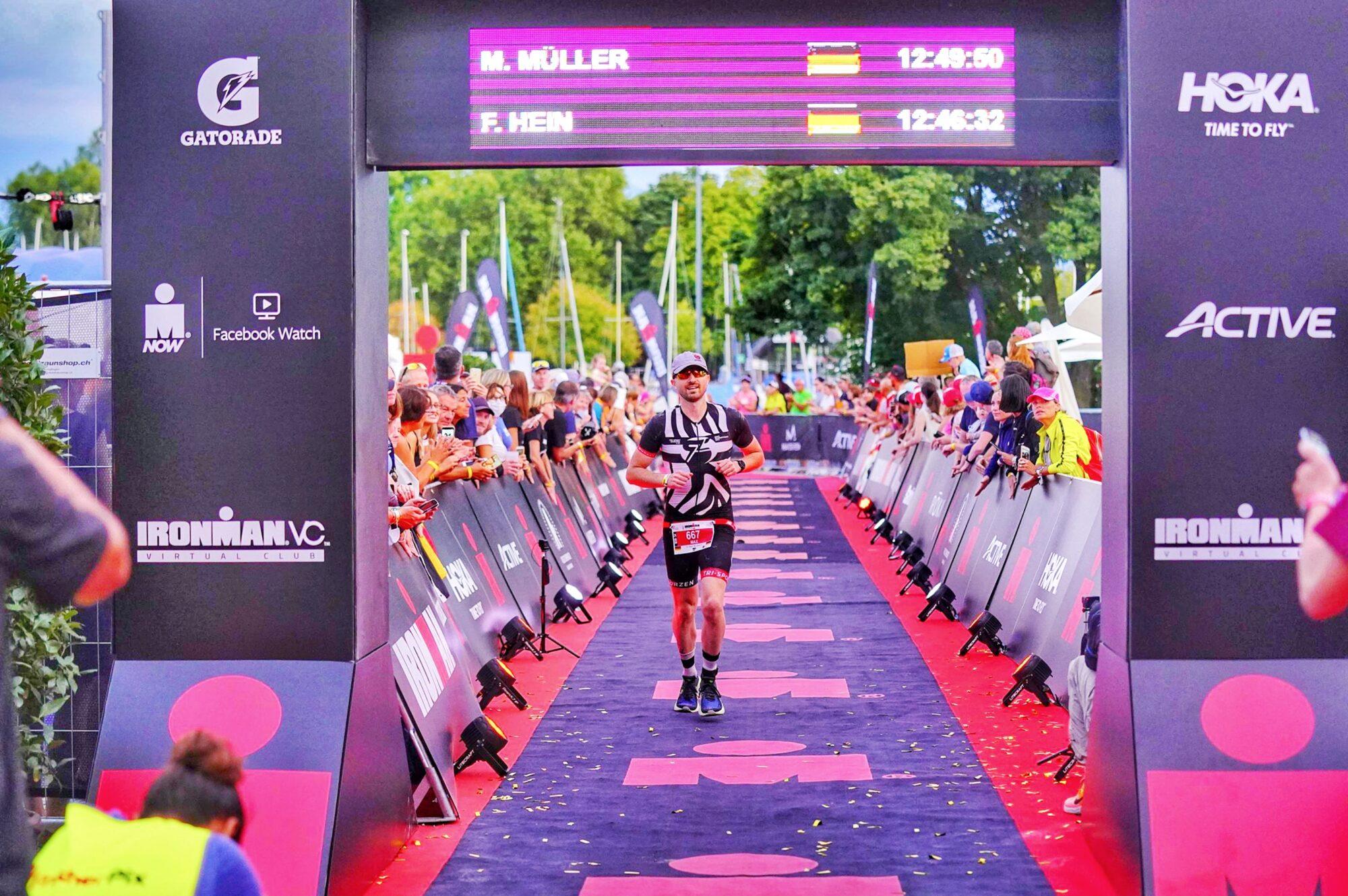Max Run finish line 1 Ironman Switzerland