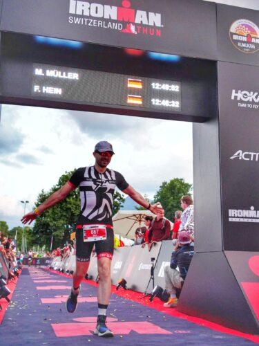 Max finish line 2 Ironman Switzerland
