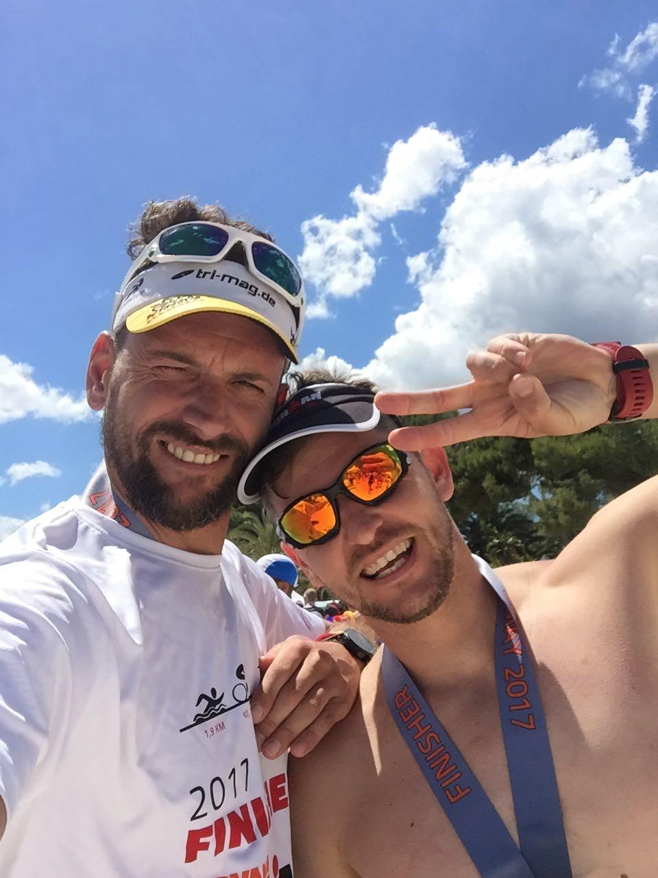 Stefan + Nico Finish IronMan Mallorca