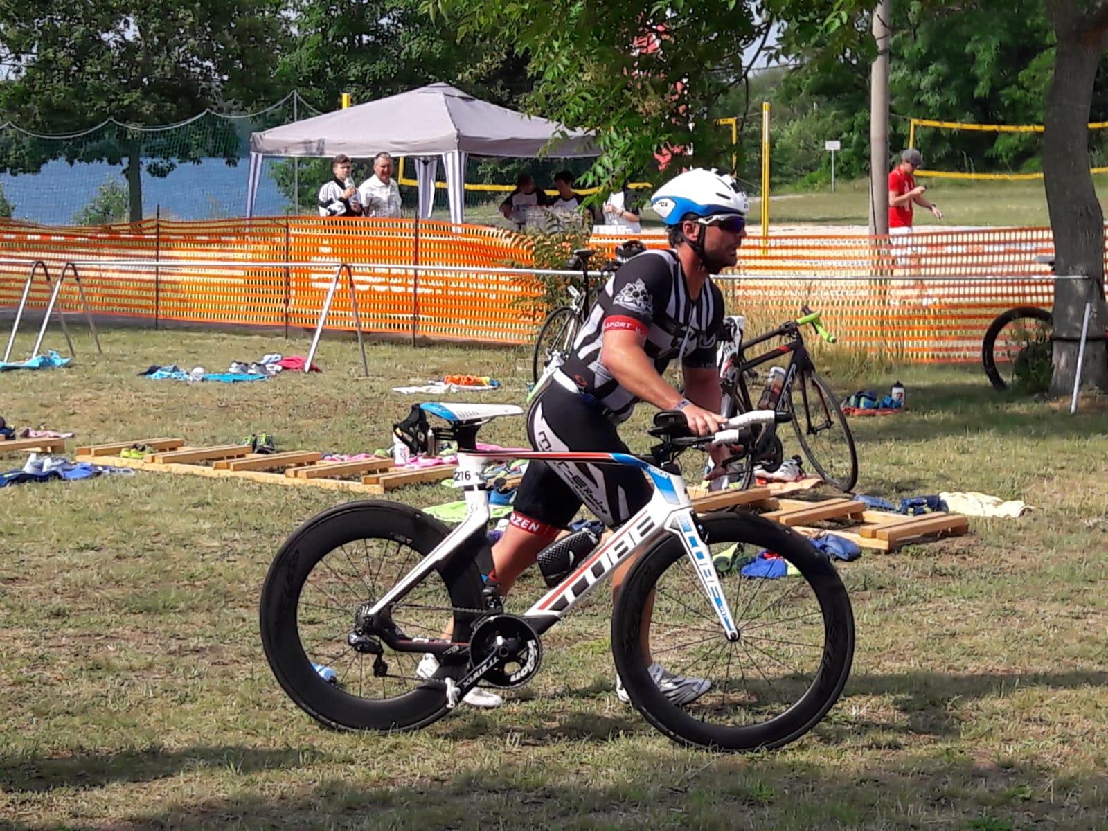 Bergwitztriathlon 2019 Danny Sprung aufs Rad
